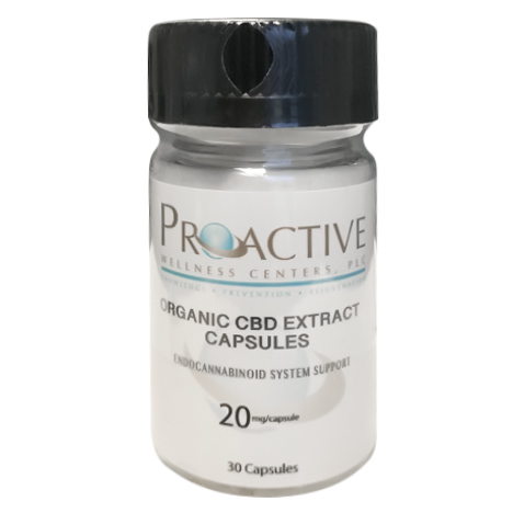 Organic CBD Capsules 20 mg each 30 Count