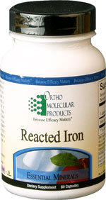 Reacted Iron 60 Capsules